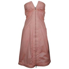 Givenchy Couture Pink Parachute Silk Strapless Dress - 38 - Circa 80's