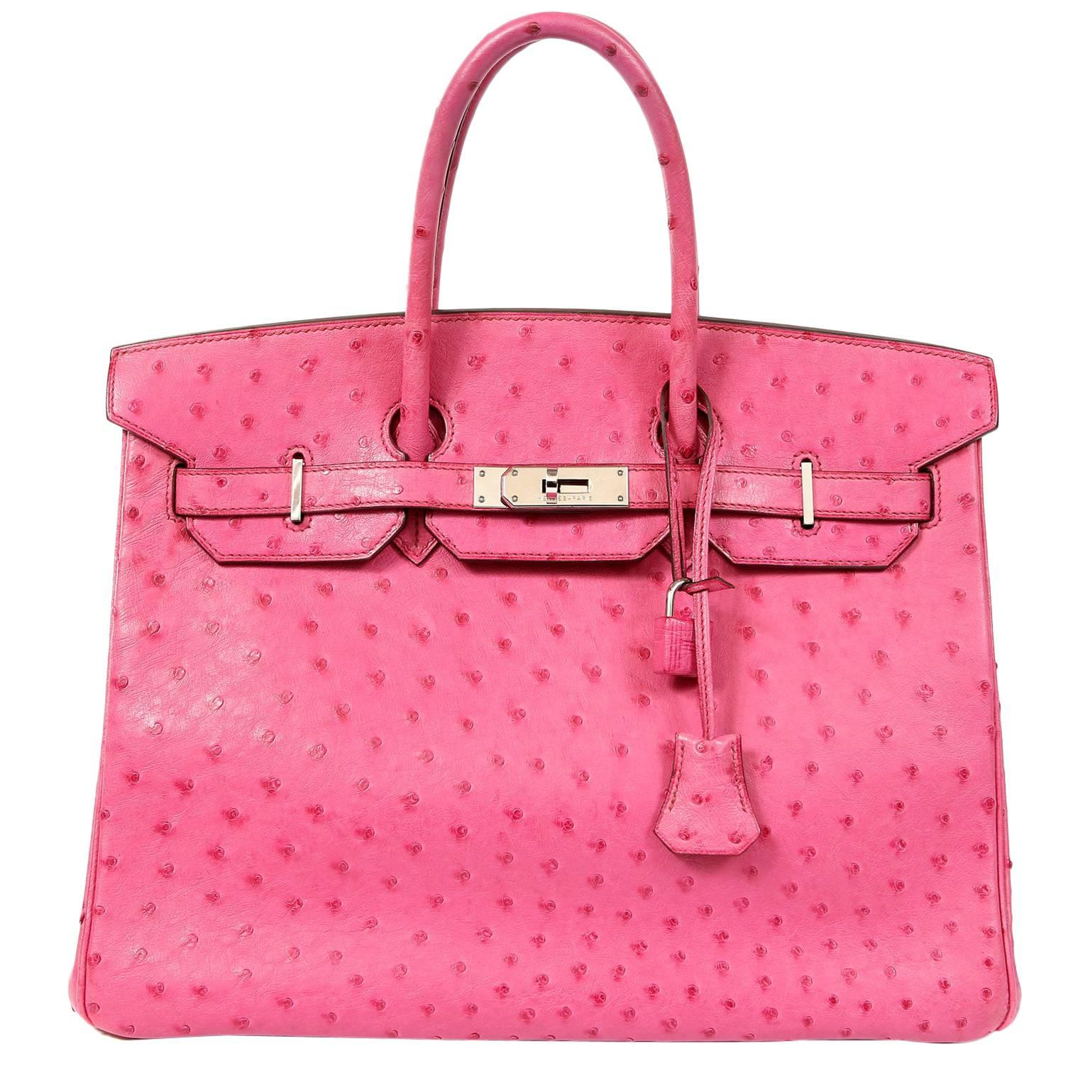 ... coupon hermès pink ostrich 35 cm birkin bag for sale bbdbc 1f0ad b0c1743c116a1