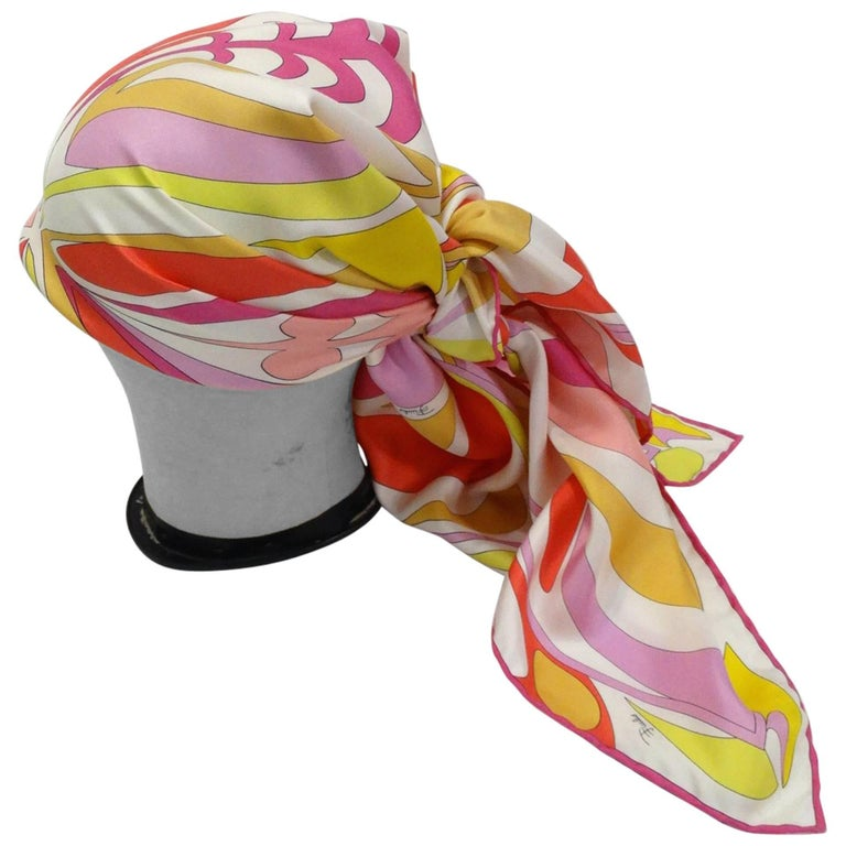 2000s Pucci Psychedelic Clover Printed Scarf
