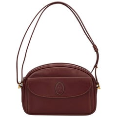 Cartier Red Leather Must de Cartier Shoulder Bag