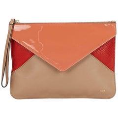 Chloe Brown x Multi Tricolor Puzzle Clutch Bag