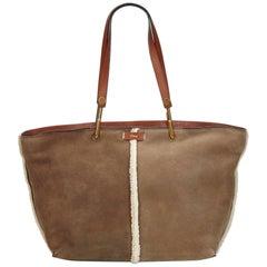 Chloe Brown x Dark Brown Mouton Keri Tote Bag