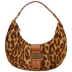 DiorLeopard Print Fur Handbag
