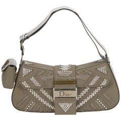 DiorBrown x Silver Beaded Street Chic Columbus Bag