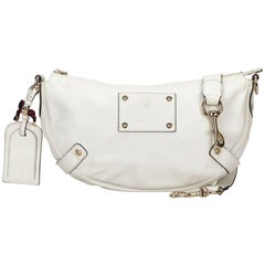 Gucci White Leather Voyager Bag