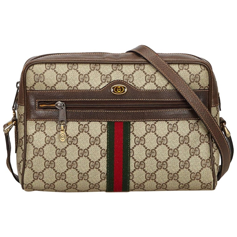 4b5bba558f70 Gucci Brown Ophidia GG Supreme Small Crossbody Bag For Sale at 1stdibs