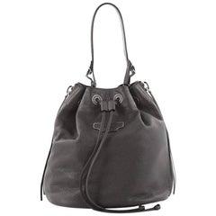 Balenciaga Papier Plate Bucket Bag Leather Small