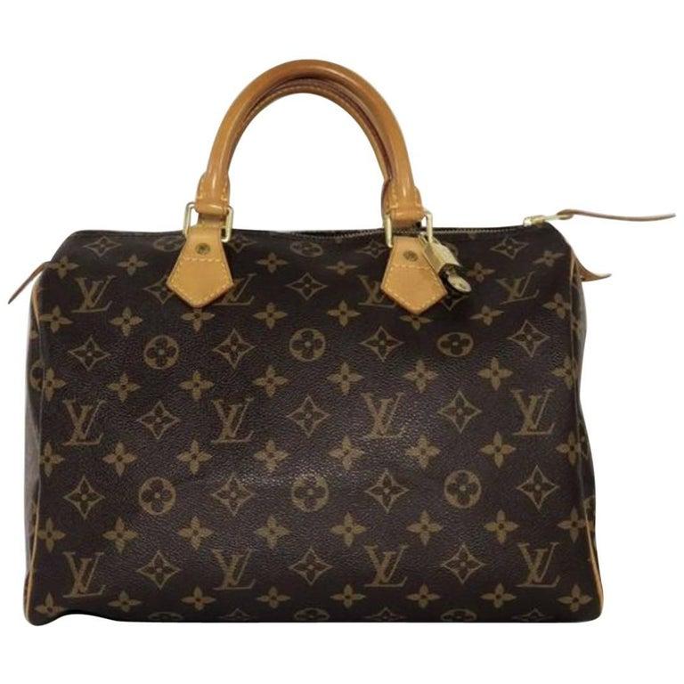 Louis Vuitton Monogram Speedy 30 Top Handle Bag