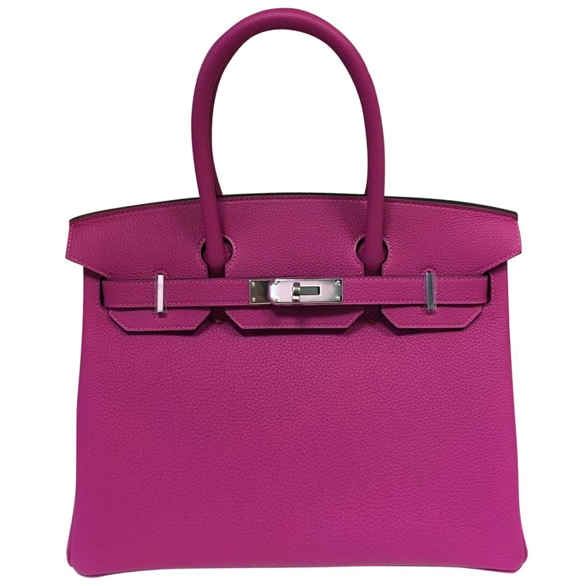 01bfe2523c591 ... promo code for hermes birkin bag rose pourpre 30 togo palladium  hardware for sale 5168f cbb48