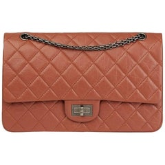 2014 Chanel Brick Aged Calfskin Leather 2.55 Reissue 227 Double Double Flap Bag