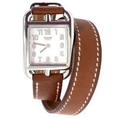 "Hermes Paris Medium ""Cape Cod"" Double Strap Watch, Veau barenia Gold, 2006"