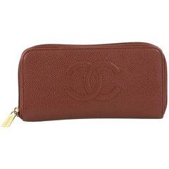 Chanel Timeless CC Zipped Wallet Caviar Long