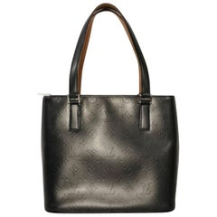 Louis Vuitton Matte Vernis Stockton in Grey Shoulder Bag