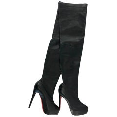 Thigh High Christian Louboutin Boots Size 36.5 120mm