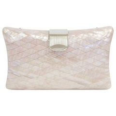 1950s Lisette Mother of Pearl and Lucite Clutch Made in Italy