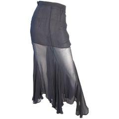 Romeo Gigli Sheer Chiffon Skirt