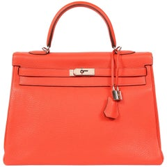 Hermès Rose Jaipur Togo 35 cm Kelly Bag