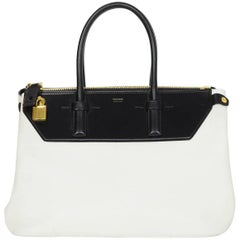 Tom Ford Black & White Medium Petra Bag