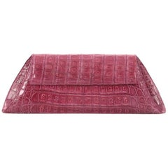 Nancy Gonzalez Envelope Convertible Clutch Crocodile
