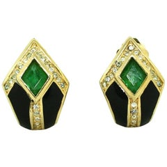 Clip Earrings by Christian Dior, 1980's
