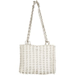 "Paco Rabanne White with Silver ""Le 69"" Reissue Bag"