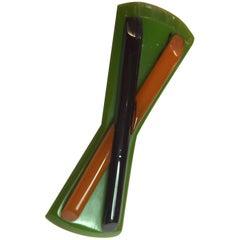 1930s Bakelite Art Deco Modernist Multicolor Geometric Brooch Pin
