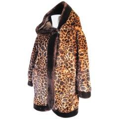 Yves Saint Laurent Hooded Beaver Fur Coat, 1980s