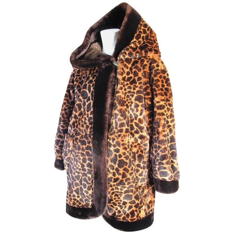 Yves Saint Laurent Hooded Beaver Fur Coat, 1980s  For Sale