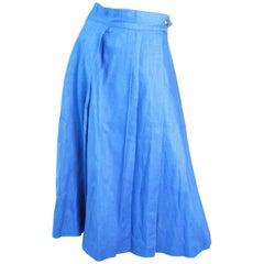 Hermes Linen Wrap Skirt