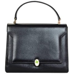 Anya Hindmarch Black Leather Bathurst Top Handle Bag