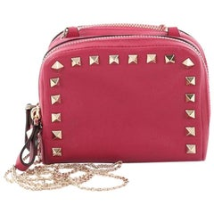 Valentino Rockstud Camera Chain Crossbody Bag Leather Mini