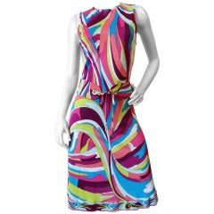 2000s Pucci Belted Sleeveless Dress