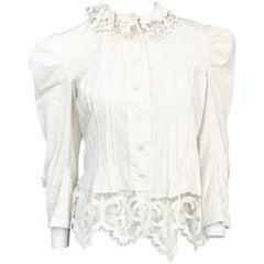 Edwardian White Cotton Hand Made Jacket
