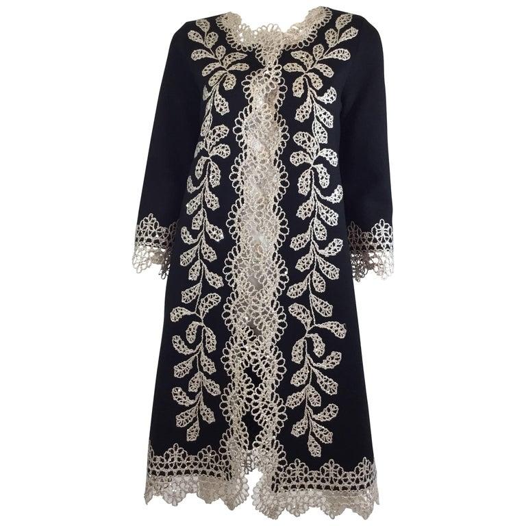 Oscar de la Renta Embellished Knit Sweater Coat, Fall 2013