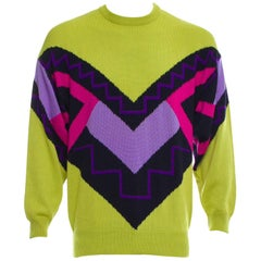 Gianni Versace Vintage Wool Men's Sweater, 1990s