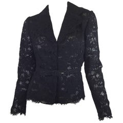 Valentino Lace Belted Jacket