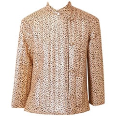 Givenchy Gold Lame Quilted Evening Jacket