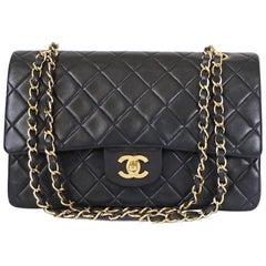Chanel 2.55 Double Flap Classic Shoulder Bag Black Medium