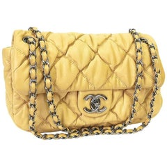 Chanel 2.55 Bubble Quilted Classic Chain Shoulder Bag Beige