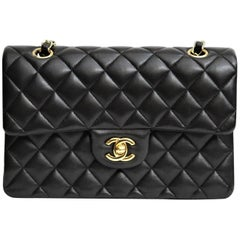 Chanel Black Leather Classic 2.55 Bag