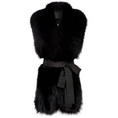 Verheyen London Legacy Stole in Black Fox Fur