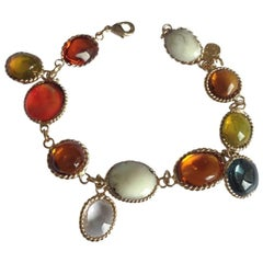 Marguerite de Valois Waterfalls Couture Bracelet in Molton Glass