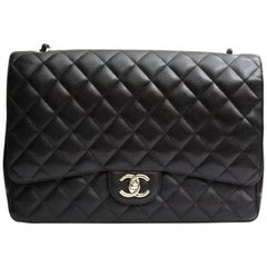 Chanel Classic Maxi Jumbo Double Flap  Bag Hammered Leather