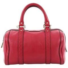 Gucci Joy Boston Bag Leather with Microguccissima Small