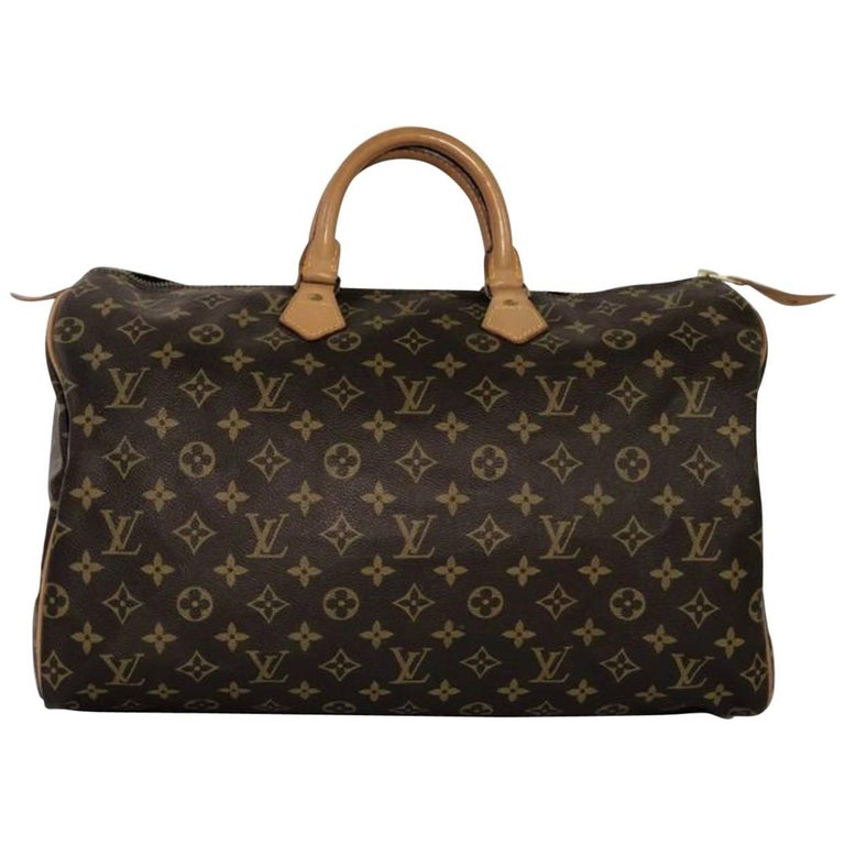 Louis Vuitton Monogram Speedy 40 Satchel Bag