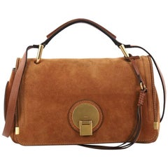 Chloe Indy Double Carry Bag Suede Small