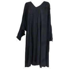 Laise Adzer black Susti gauze bat wing tunic caftan 1980s