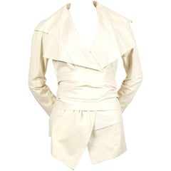 Tom Ford for Yves Saint Laurent cream leather runway jacket, 2004