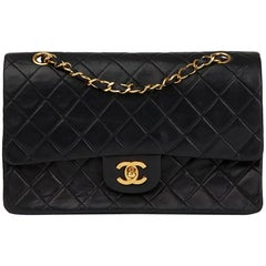 Chanel Black Quilted Lambskin Medium Classic Double Flap Bag, 1991