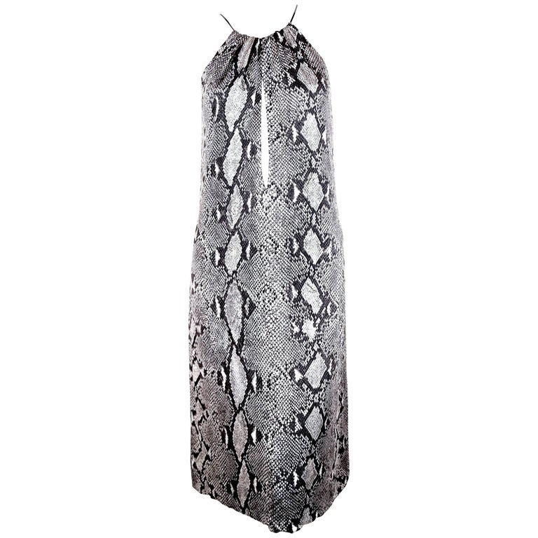 Tom Ford For Gucci python print jersey runway dress, 2000
